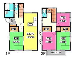 [一戸建] 埼玉県所沢市上新井1丁目 の賃貸【/】の間取り