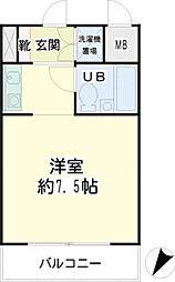 神奈川県横浜市金沢区寺前1丁目の賃貸マンションの間取り