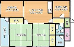 アーバンライフコート大池[3階]の間取り