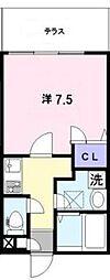 東京都新宿区百人町1丁目の賃貸アパートの間取り