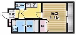 グランシス高井田[4階]の間取り