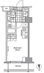 パークハビオ秋葉原 7階ワンルームの間取り