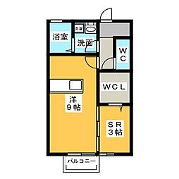 レセンテ豊田[2階]の間取り