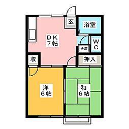 ケイアイアパートメントA[1階]の間取り