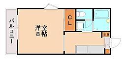 南片江Yハイツ[2階]の間取り