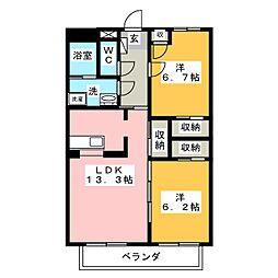 SurplusKAWATA[2階]の間取り