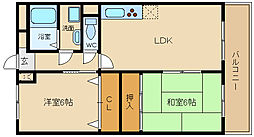 兵庫県姫路市飾磨区城南町1丁目の賃貸マンションの間取り