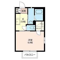 ニューディアス[2階]の間取り