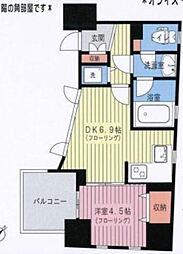 東京メトロ千代田線 赤坂駅 徒歩3分の賃貸マンション 3階1LDKの間取り