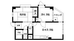 西宮パールハイツ[2階]の間取り