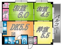 兵庫県神戸市東灘区深江本町1丁目の賃貸マンションの間取り