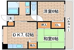 兵庫県神戸市長田区大谷町2丁目の賃貸マンションの間取り