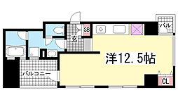 ワコーレ三宮ランドマークシティ[3階]の間取り