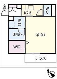 仮)JA賃貸豊田市金谷町2丁目 1階1SKの間取り