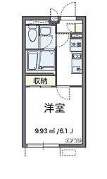 東京都日野市栄町4丁目の賃貸アパートの間取り