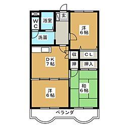 フローレンス伊藤[3階]の間取り