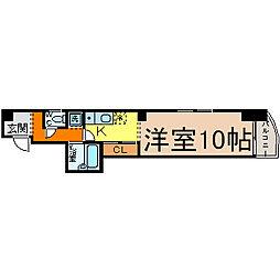 エスプリ千代田[3B号室]の間取り