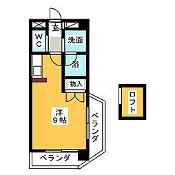シャトー川村III[4階]の間取り