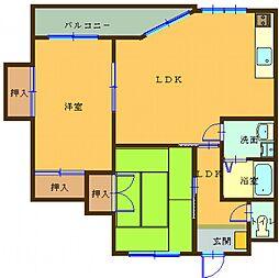 バンベールハウス B202号室[B202号室]の間取り