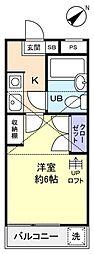 千葉県船橋市高根台6丁目の賃貸アパートの間取り