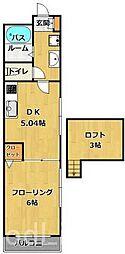 メゾンドアヴリル[2階]の間取り