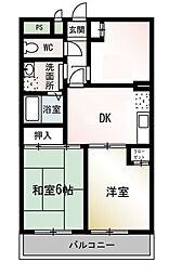 ミヤザキマンション[2階]の間取り