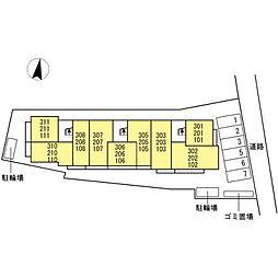 仮)D-room花町[2階]の外観