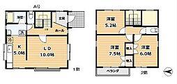 [一戸建] 神奈川県藤沢市片瀬1丁目 の賃貸【/】の間取り