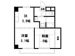 コアロード鷹ヶ峰[2階]の間取り