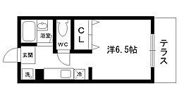 エスペーロ甲東I[104号室]の間取り