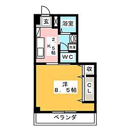 グリーンコート羽島[3階]の間取り