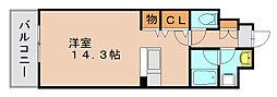 トゥリートップ[4階]の間取り