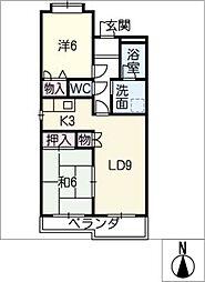リバーサイド宮塚[4階]の間取り