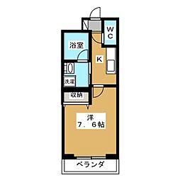 ベラジオ京都西院ウエストシティ[5階]の間取り