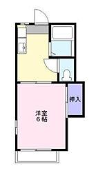 タウニィ和久[2階]の間取り