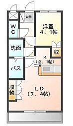 エスポアール・B[2階]の間取り