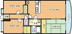 ハイツ高松II[2階]の間取り