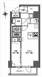 都営新宿線 馬喰横山駅 徒歩9分の賃貸マンション 4階1LDKの間取り