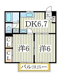 コンフォルターブルA[2階]の間取り