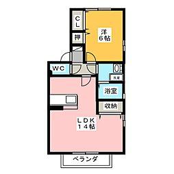 ラ・プレミール B[2階]の間取り