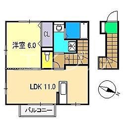 コンフォート倉[2階]の間取り
