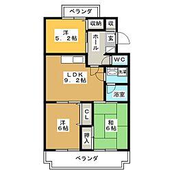ヴィラ・ロイヤルマンション[2階]の間取り
