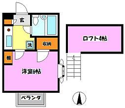 K・S新松戸クラブ[104号室]の間取り