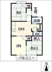 コーポ・ファミリーB棟[2階]の間取り