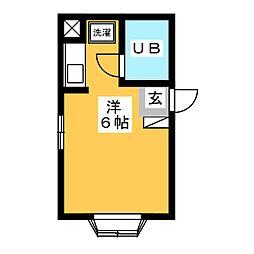 カーサ・ビアンカ  白い家[2階]の間取り