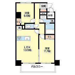 仮)ネオクレンツ川西 5階2LDKの間取り