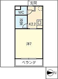 CASA マック[3階]の間取り