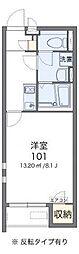 阪急京都本線 高槻市駅 徒歩5分の賃貸アパート 1階1Kの間取り
