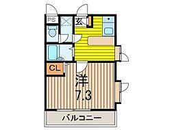 サンガーデン元郷B[4階]の間取り