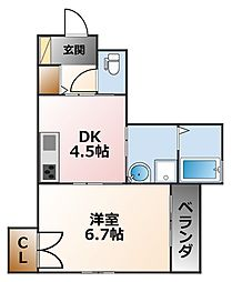 (仮称)D-room甲子園浦風[2階]の間取り